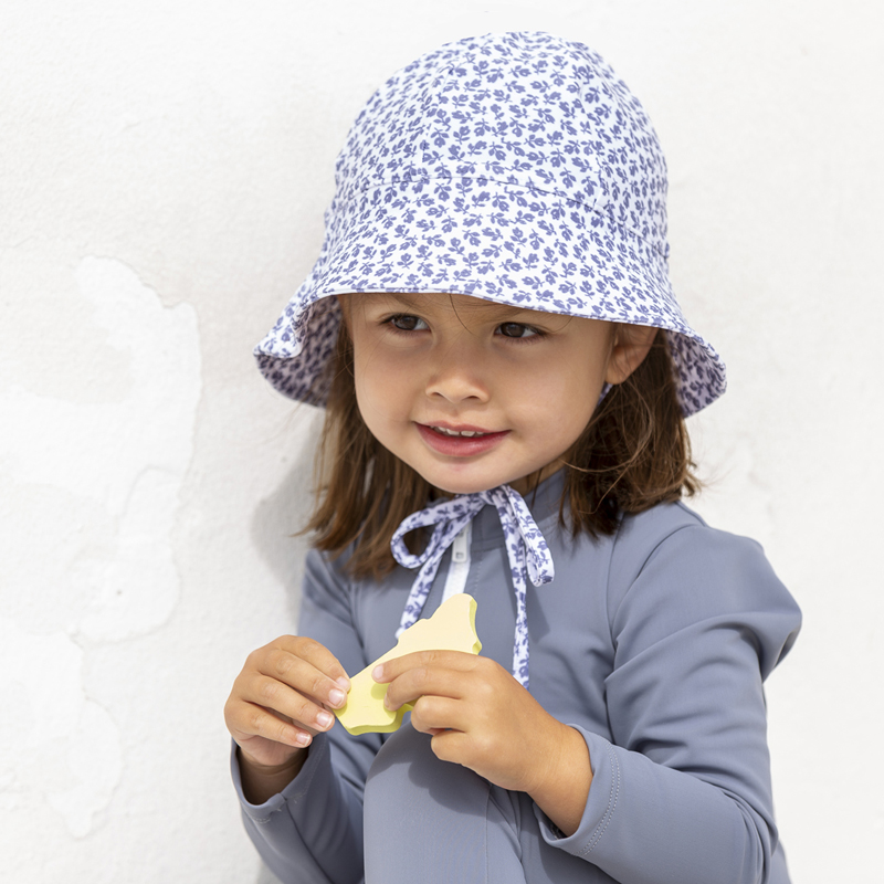 Frey Sun hat - grey-flowers