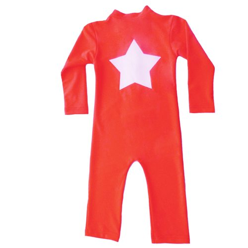 Lou - STAR sunsuit L/S - grenadine