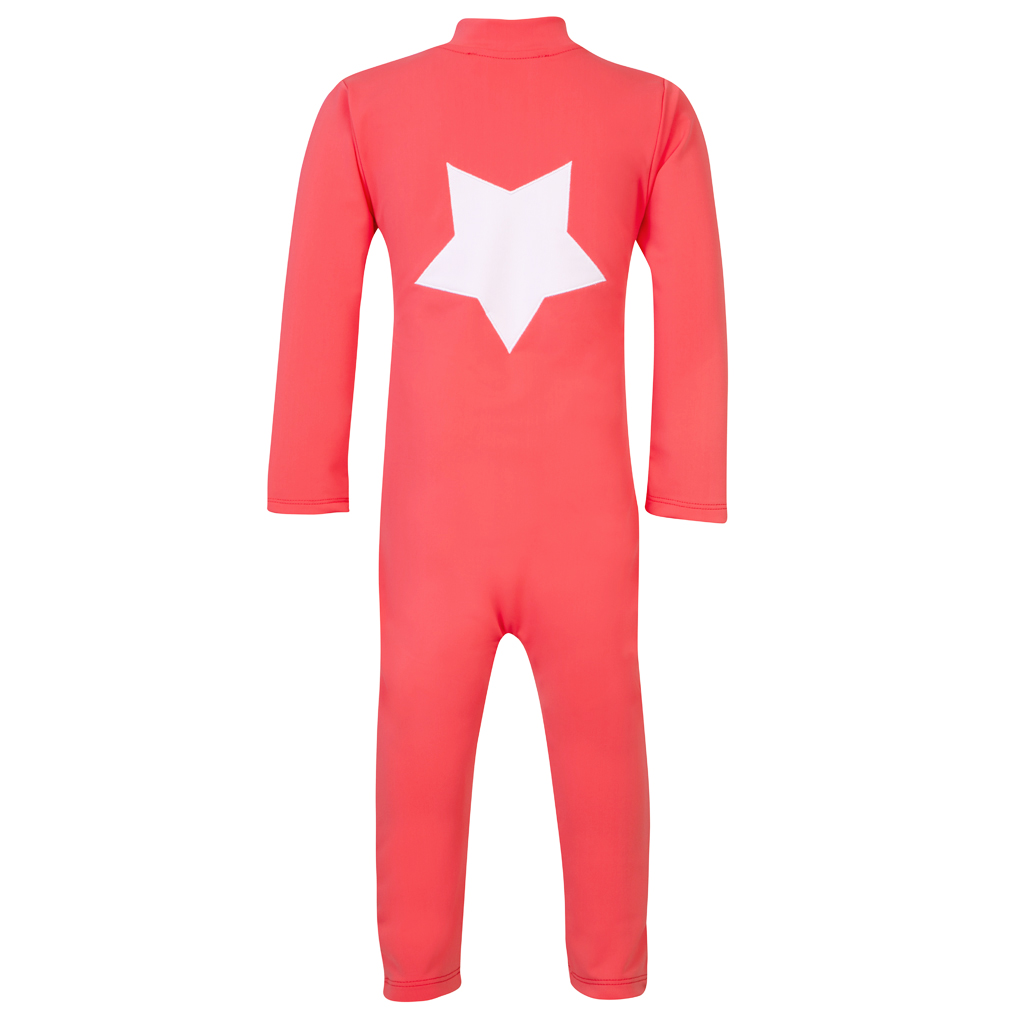Lou - STAR sunsuit L/S - nectarine
