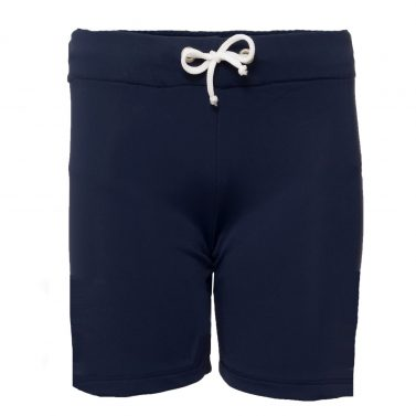 Petit Crabe blue Alex swim shorts for both boys and girls. UV sun protective swimwear for kids.