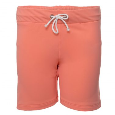 Petit Crabe coral Alex long swim shorts for girls. UV sun protective swimwear for children.