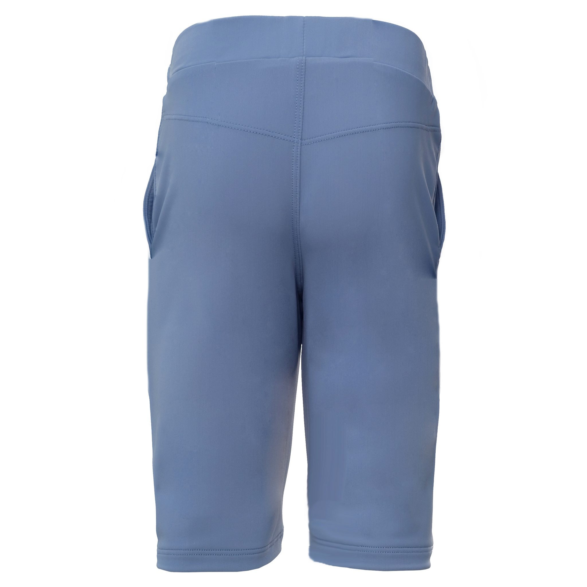 Petit Crabe petrol blue long swim shorts for children. UV sun protective clothing.