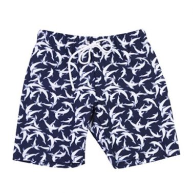 Petit Crabe Alex blue Dolphin swim trunks for kids, sun protective clothing