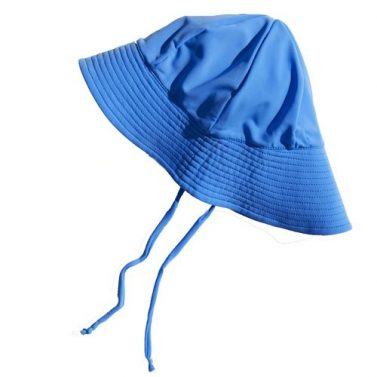 Petit Crabe ocean blue Frey summer hat, uv sun protective beachwear for kids.