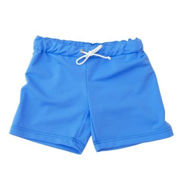 Petit Crabe ocean blue Alex swim shorts for kids, uv sun protective swimwear.
