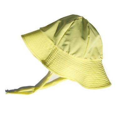 Petit Crabe yellow Frey sunhat for children, uv sun protective swimwear.