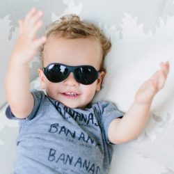 Petit Crabe Black Babiator Sunglasses For Kids