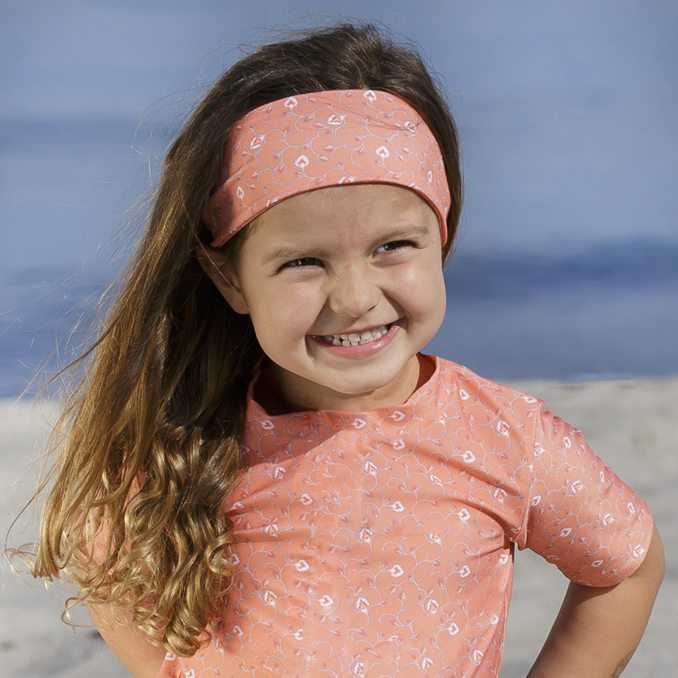 Petit Crabe Floral Peach Sophie Headband For Girls, Accessories